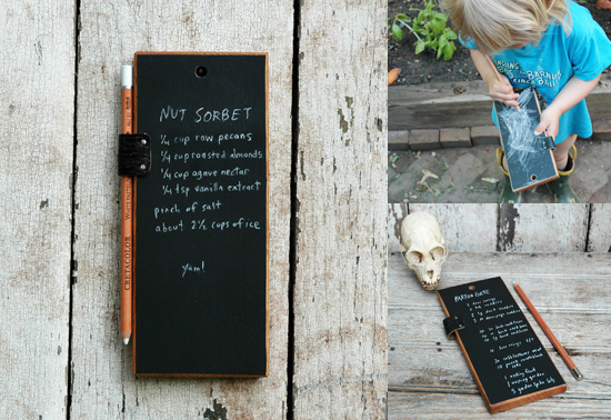 The chalkboard tablet gift