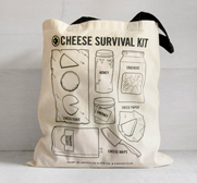Brooklyn Slate Co's cheese survival kit gift