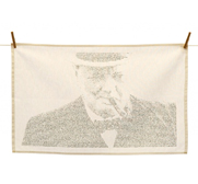 The Winston Churchill tea towel gift by Annemarie Wright