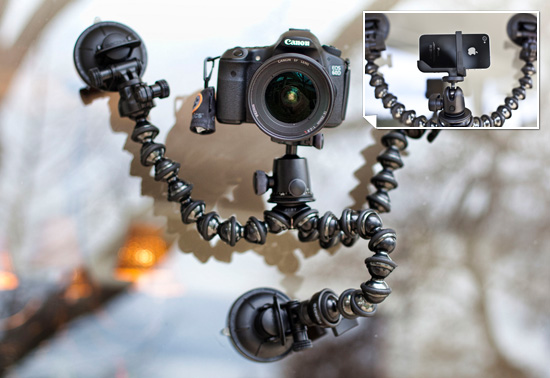 Cinetics CineSquid suction cup camera mount gift