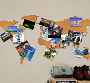 The cork board world map gift by Luckies