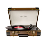 The Crosley executive turntable radio suitcase gift