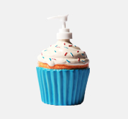 The ceramic cupcake soap dispenser gift