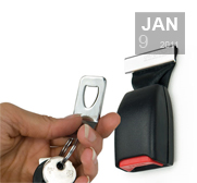 Thabto's buckle up seatbelt  key holder gift