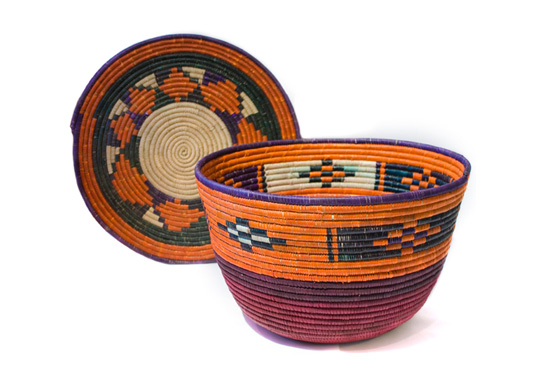The gift of handmade baskets by Darfur women