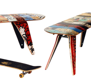 The recycled skater deckbench by deckstool gift