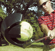 The doggie golf driver ball launcher gift by Hyper Pet