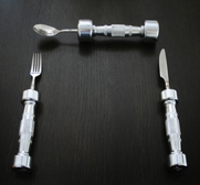 The Eat Fit dumbbell cutlery gift by The Cheeky