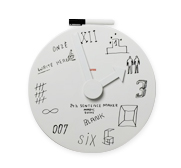 The Alessi blank wall clock gift