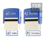 The Facebook Like and Dislike stamp gift
