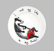 The I eat my cake in my pants side plate gift