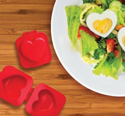 The Eggspress heart shaped egg mould gift