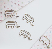 The circus line elephant paper clips gift