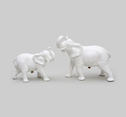 A set of elephant salt & pepper gifts by Emilie Kr�ner