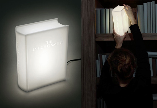 The Enlightenment book lamp gift by Studiomeiboom