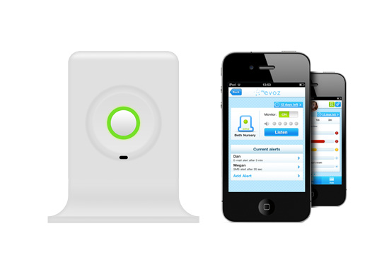 The Evoz baby monitor gift with smartphone tracking