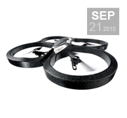 The Parrot AR.Drone flying machine gift