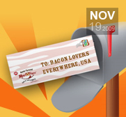 Lick your Kosher bacon flavoured envelope gift