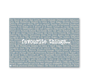 More than word art favourite things canvas gift