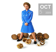 The Iron Lady nutcracker gift, ouch!