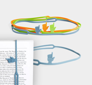 The Fingerprint bookmark band gift