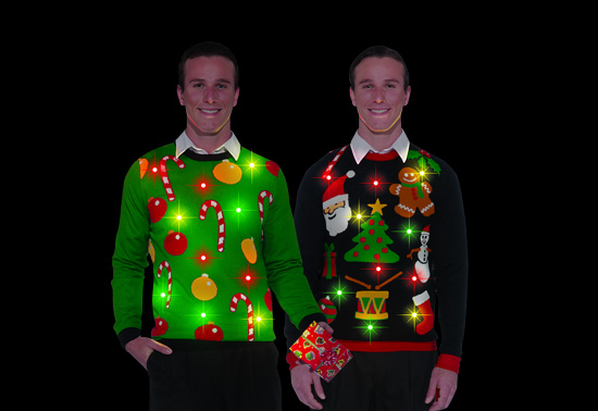 The Flashing Lights Ugly Christmas Sweater Gift | TicaToca