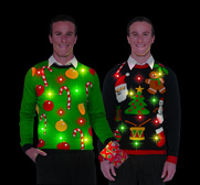 The flashing lights ugly Christmas sweater gift