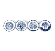 The Four Seasons, Four Plates gift by Rob Ryan