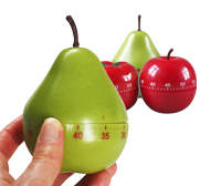 The apple, pear and tomato fruity kitchen timer gifts