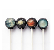 The galactic solar system space ball candy lollipop gifts