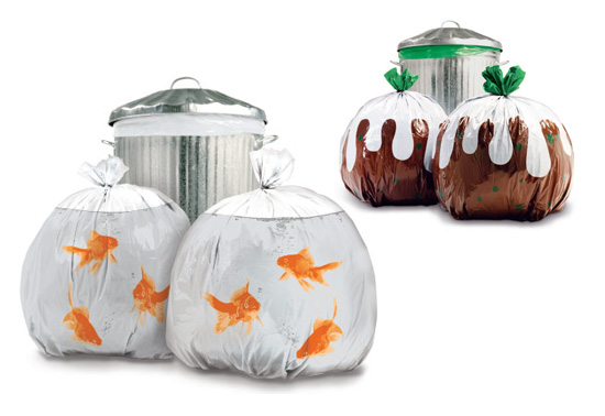 Wieden + Kennedy's hilarious garbage bag gifts