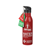 Glugg the fire extinguisher water bottle gift by Wild and Wolf