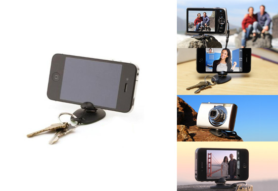 The tiltpod iPhone and camera keyring tripod gift by gomite