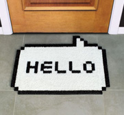 The hello 8 bit doormat gift