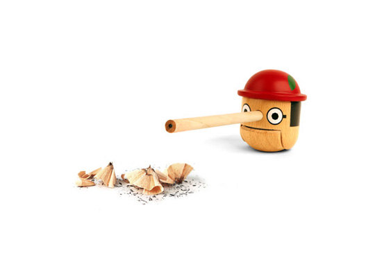 Mike He's Pinocchio inspired honest boy pencil sharpener gift