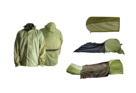 JakPak all-in-one waterproof jacket, tent and sleeping bag ...