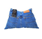 The upcycled denim jeans remote control storage pocket pillow gift