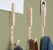 Wooden jpeg hook peg gifts by John Caswell