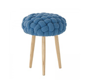 The knot knit stool gift by Claire-Anne OŽBrien