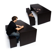 The Little a Little Longer thermochromic table/bench gift