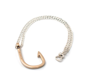 The gold hook on silver chain gift