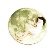 The Full Moon Odyssey floor mattress rug gift by i3 Lab