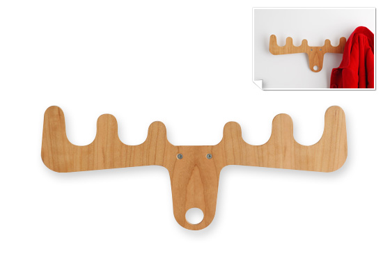 Moose on the loose coat rack gift