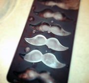 Moustache ice cube tray gift
