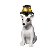 Mungo the bull terrier lamp gift