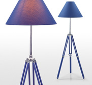 The nautical navy tripod floor lamp gift