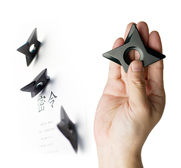 The Ninja Shuriken magnet gift by Liu Chenhsu of Megawing