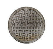 The NYC sewer cover doormat gift