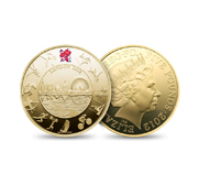 The official London 2012 Olympics 5 gold coin gift