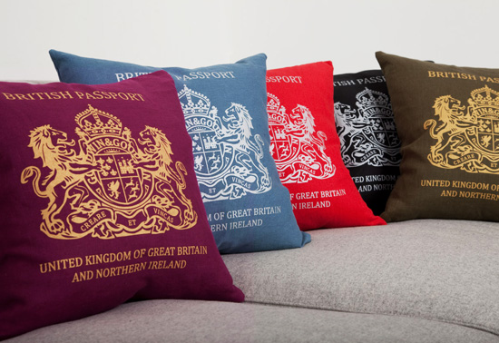 Goodwin Goodwin British passport cushion gifts